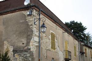 Façade petit immeuble ancien(Clessé)Avant Travaux